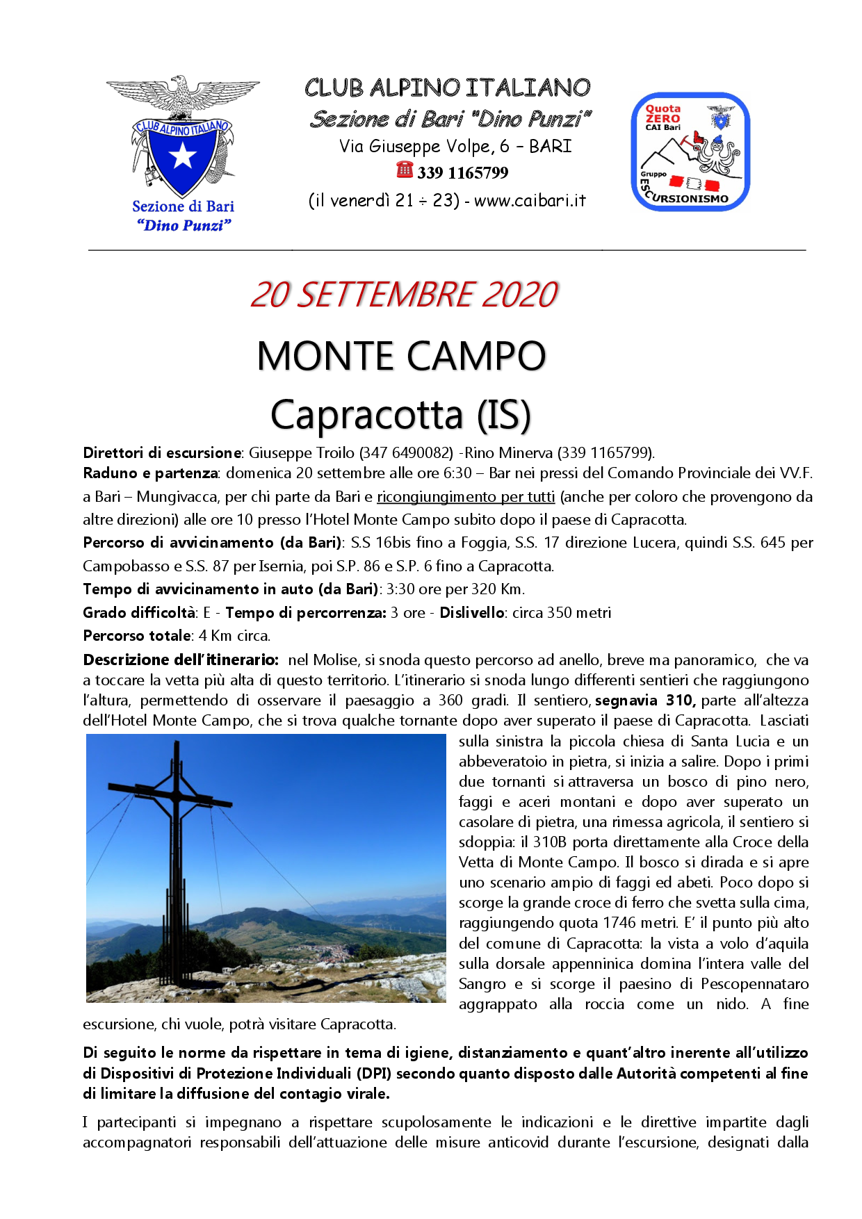 MONTE CAMPO  Capracotta (IS)